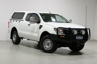 2013 Ford Ranger PX XL 3.2 (4x4) White 6 Speed Manual Super Cab Utility.