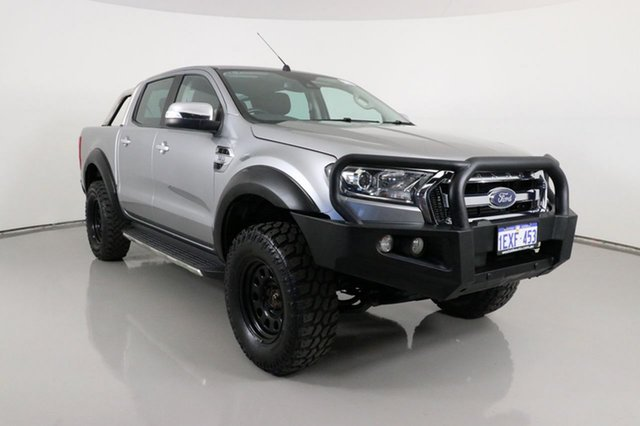 Used Ford Ranger PX MkII XLT 3.2 (4x4) Bentley, 2015 Ford Ranger PX MkII XLT 3.2 (4x4) Silver 6 Speed Automatic Double Cab Pick Up