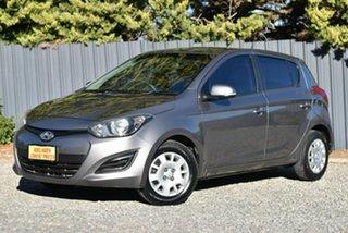2013 Hyundai i20 PB MY13 Active Grey 4 Speed Automatic Hatchback.
