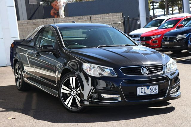 Used Holden Ute Port Melbourne, 2014 Holden Ute SV6 Black 6 Speed Automatic Utility