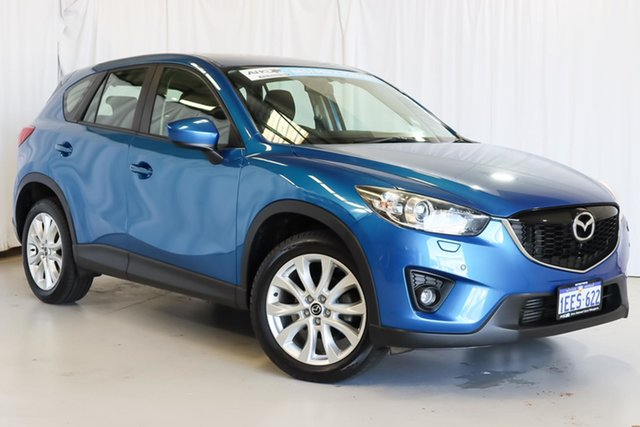 Used Mazda CX-5 KE1021 MY13 Grand Touring SKYACTIV-Drive AWD Wangara, 2013 Mazda CX-5 KE1021 MY13 Grand Touring SKYACTIV-Drive AWD Blue 6 Speed Sports Automatic Wagon