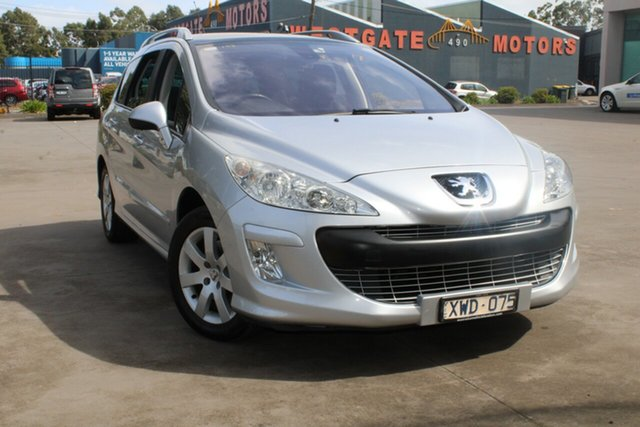 Used Peugeot 308 Touring XSE HDi 2.0 West Footscray, 2010 Peugeot 308 Touring XSE HDi 2.0 Silver 6 Speed Automatic Wagon