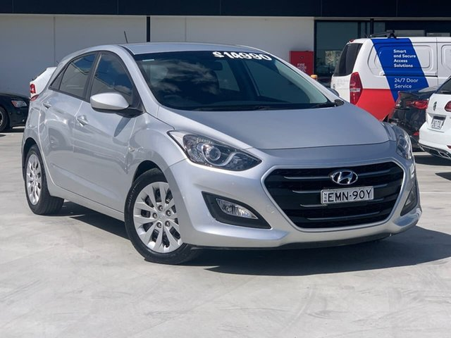 Used Hyundai i30 GD3 Series II MY16 Active Liverpool, 2015 Hyundai i30 GD3 Series II MY16 Active Silver 6 Speed Sports Automatic Hatchback