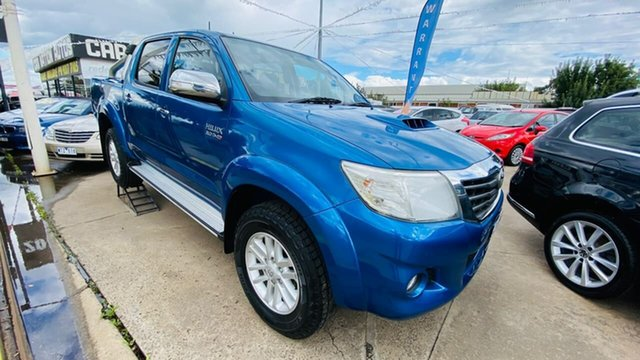 Used Toyota Hilux KUN26R MY14 SR5 Double Cab Maidstone, 2014 Toyota Hilux KUN26R MY14 SR5 Double Cab Blue 5 Speed Automatic Utility