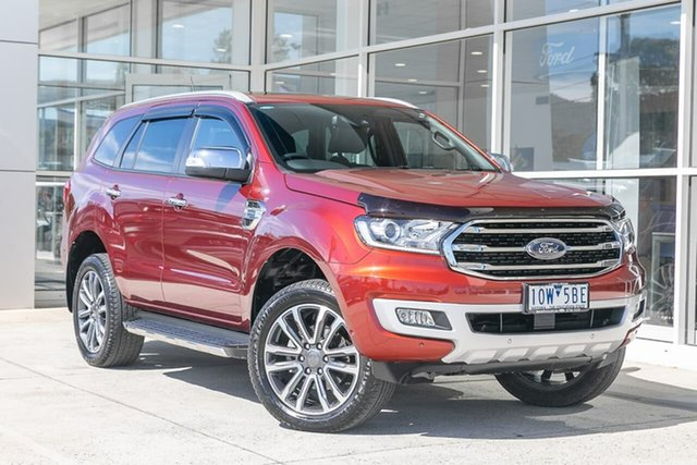 Used Ford Everest UA II 2019.00MY Titanium Ferntree Gully, 2019 Ford Everest UA II 2019.00MY Titanium Red 10 Speed Sports Automatic SUV
