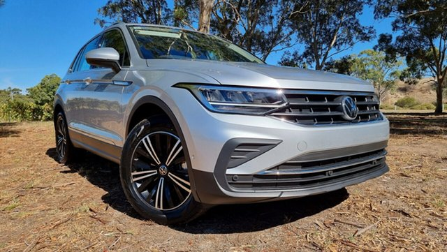 Demo Volkswagen Tiguan 5N MY21 110TSI Life DSG 2WD Tanunda, 2020 Volkswagen Tiguan 5N MY21 110TSI Life DSG 2WD Reflex Silver 6 Speed
