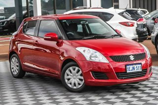 2013 Suzuki Swift FZ GL Red 4 Speed Automatic Hatchback.