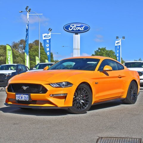 Used Ford Mustang FN 2019MY GT Midland, 2018 Ford Mustang FN 2019MY GT Orange 10 Speed Sports Automatic Fastback