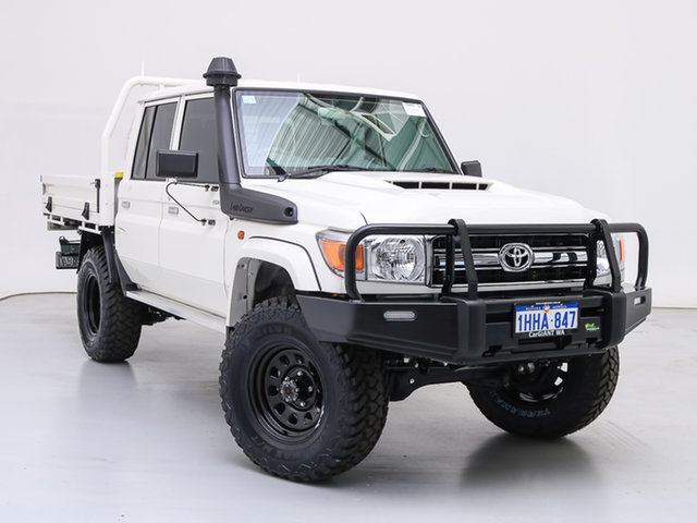 Used Toyota Landcruiser 70 Series VDJ79R GXL, 2021 Toyota Landcruiser 70 Series VDJ79R GXL White 5 Speed Manual Double Cab Chassis