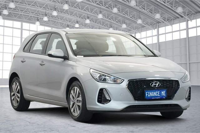 Used Hyundai i30 PD2 MY19 Active Victoria Park, 2019 Hyundai i30 PD2 MY19 Active Silver 6 Speed Sports Automatic Hatchback