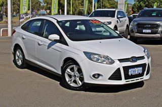 2013 Ford Focus LW MkII Trend PwrShift White 6 Speed Sports Automatic Dual Clutch Sedan