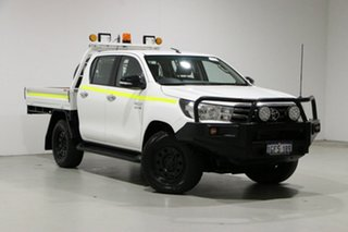 2017 Toyota Hilux GUN126R SR (4x4) White 6 Speed Automatic Cab Chassis.