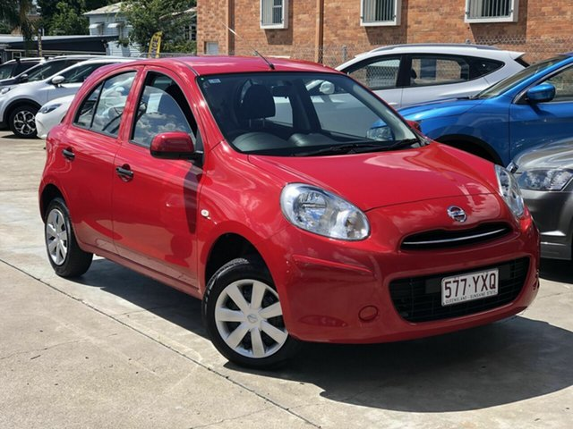 Used Nissan Micra K13 MY13 ST Chermside, 2012 Nissan Micra K13 MY13 ST Red 5 Speed Manual Hatchback