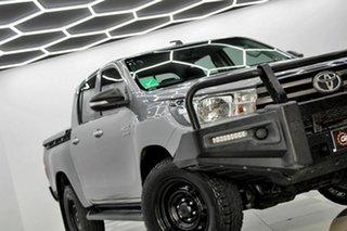 2017 Toyota Hilux GUN126R MY17 SR (4x4) Silver 6 Speed Automatic Dual Cab Utility.