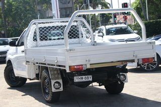 2018 Toyota Hilux GUN122R MY17 Workmate Glacier White 5 Speed Manual Cab Chassis.