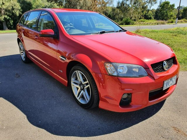 Used Holden Commodore SV6 Geelong, 2011 Holden Commodore VE Series II SV6 Red Sports Automatic Wagon