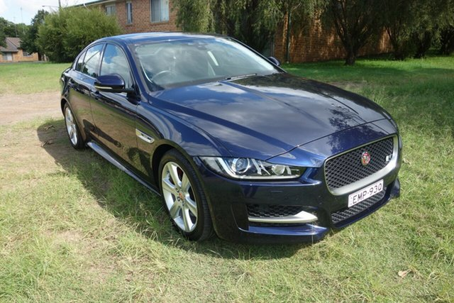 Used Jaguar XE X760 MY16 R-Sport East Maitland, 2016 Jaguar XE X760 MY16 R-Sport Blue 8 Speed Sports Automatic Sedan