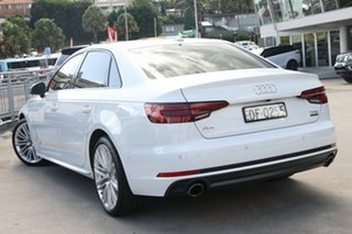 2018 Audi A4 B9 8W MY18 S Line S Tronic White 7 Speed Sports Automatic Dual Clutch Sedan.