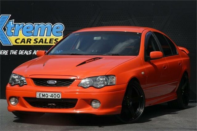 Used Ford Falcon BA Mk II XR8 Campbelltown, 2004 Ford Falcon BA Mk II XR8 Orange 4 Speed Sports Automatic Sedan