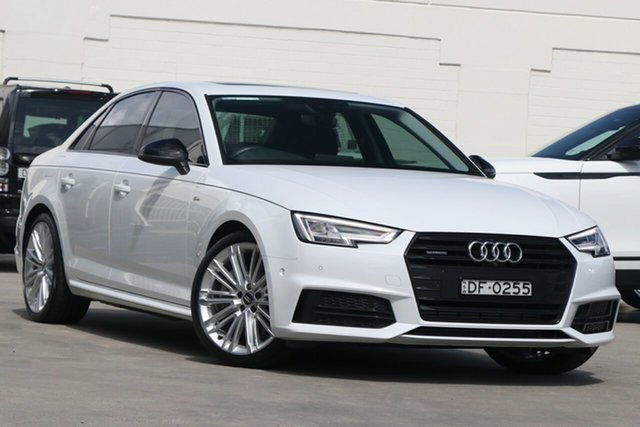 Pre-Owned Audi A4 B9 8W MY18 S Line S Tronic Brookvale, 2018 Audi A4 B9 8W MY18 S Line S Tronic White 7 Speed Sports Automatic Dual Clutch Sedan