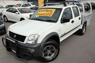 2006 Holden Rodeo RA MY06 LX Crew Cab White 5 Speed Manual Cab Chassis.