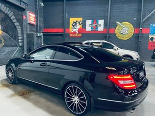 2012 Mercedes-Benz C-Class C204 C250 BlueEFFICIENCY 7G-Tronic + Black 7 Speed Sports Automatic Coupe