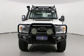 2015 Toyota Landcruiser VDJ79R MY12 Update GXL (4x4) White 5 Speed Manual Double Cab Chassis.