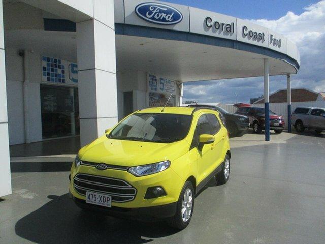 Used Ford Ecosport BK Trend Bundaberg, 2017 Ford Ecosport BK Trend Yellow 6 Speed Automatic Wagon