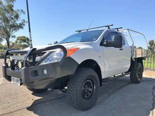 2011 Mazda BT-50 UP0YF1 XT Freestyle White 6 Speed Manual Cab Chassis.