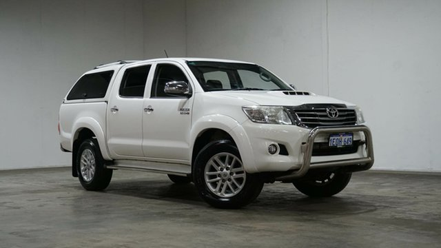 Used Toyota Hilux KUN26R MY14 SR5 Double Cab Welshpool, 2014 Toyota Hilux KUN26R MY14 SR5 Double Cab Glacier White 5 Speed Automatic Utility