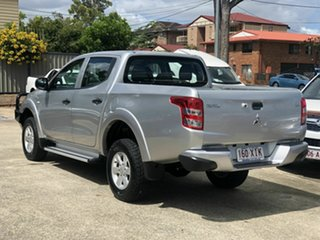 2017 Mitsubishi Triton MQ MY17 GLX+ Double Cab Silver 6 Speed Manual Utility.