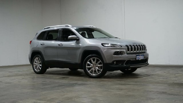 Used Jeep Cherokee KL MY17 Limited Welshpool, 2017 Jeep Cherokee KL MY17 Limited Billet Silver 9 Speed Sports Automatic Wagon