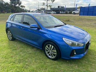 2017 Hyundai i30 PD MY18 Active Marina Blue 6 Speed Sports Automatic Hatchback.