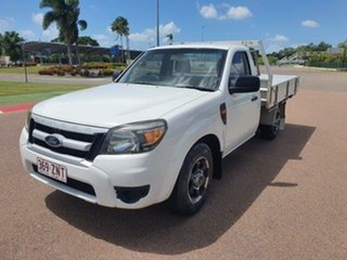 2009 Ford Ranger PJ XL Cool White 5 Speed Manual Cab Chassis