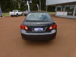 2009 Toyota Corolla ZRE152R MY09 Ascent Graphite 6 Speed Manual Sedan.