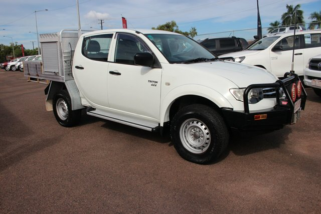 Pre-Owned Mitsubishi Triton MN MY12 GLX Double Cab Darwin, 2011 Mitsubishi Triton MN MY12 GLX Double Cab White 4 Speed Automatic Utility