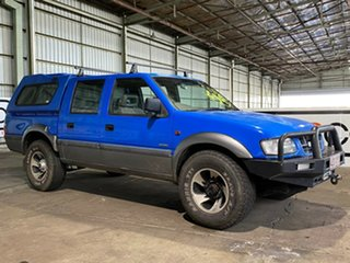 1998 Holden Rodeo TF R7 LX Crew Cab Blue 5 Speed Manual Utility.