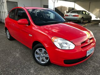 2006 Hyundai Accent LC MY04 GL Hip Hop Red 5 Speed Manual Hatchback.
