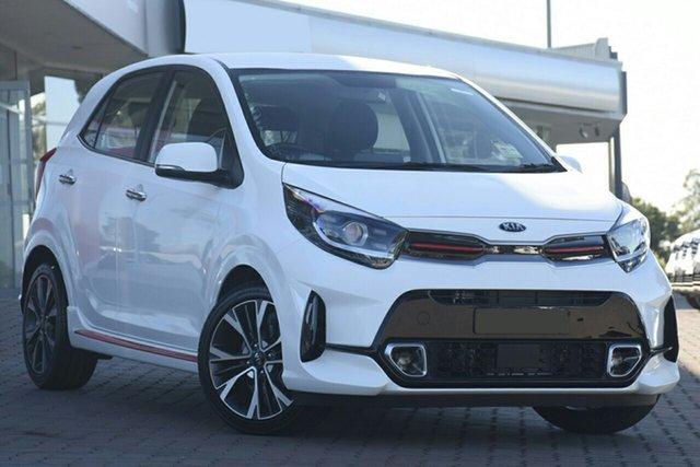 New Kia Picanto JA MY21 GT-Line Bundamba, 2020 Kia Picanto JA MY21 GT-Line Clear White 4 Speed Automatic Hatchback