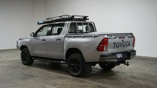 2018 Toyota Hilux GUN126R SR Double Cab Silver 6 Speed Manual Cab Chassis.