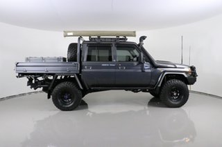 2015 Toyota Landcruiser VDJ79R MY12 Update GXL (4x4) Graphite 5 Speed Manual Double Cab Chassis