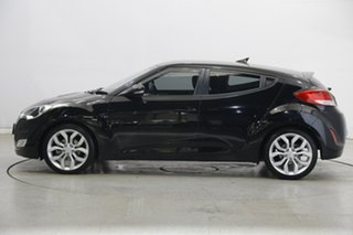 2013 Hyundai Veloster FS2 + Coupe D-CT Black 6 Speed Sports Automatic Dual Clutch Hatchback.