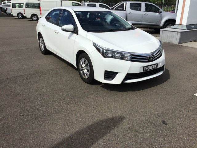 Used Toyota Corolla ZRE172R Ascent S-CVT Cardiff, 2014 Toyota Corolla ZRE172R Ascent S-CVT White 7 Speed Constant Variable Sedan
