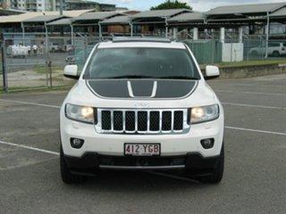 2012 Jeep Grand Cherokee WK MY12 Overland (4x4) White 6 Speed Automatic Wagon.