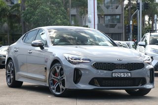 2018 Kia Stinger CK MY19 GT (blk LTH W Michelin Tyr) Ceramic Grey 8 Speed Automatic Sedan.