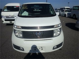 2002 Nissan Elgrand NE51 Highwaystar White Automatic Wagon.