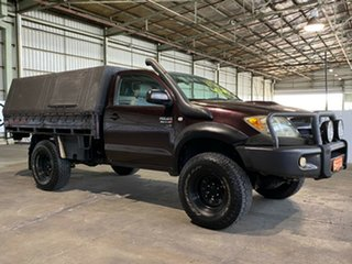 2007 Toyota Hilux KUN26R MY07 SR Plum 5 Speed Manual Cab Chassis.