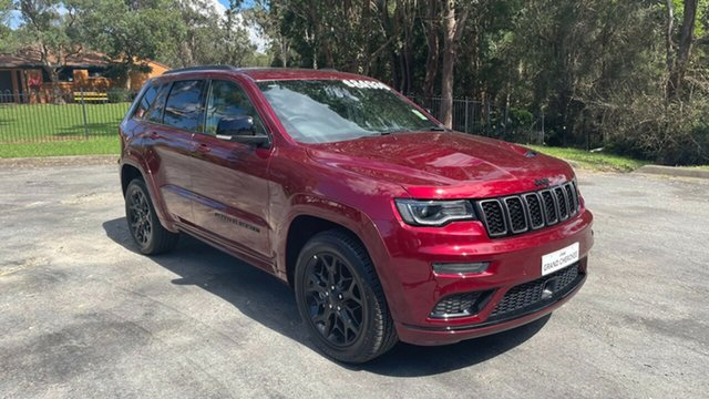 Demo Jeep Grand Cherokee WK MY21 S-Limited Port Macquarie, 2021 Jeep Grand Cherokee WK MY21 S-Limited Velvet Red 8 Speed Sports Automatic Wagon