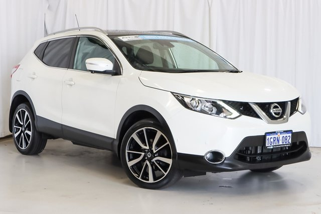 Used Nissan Qashqai J11 TI Wangara, 2014 Nissan Qashqai J11 TI White 1 Speed Constant Variable Wagon