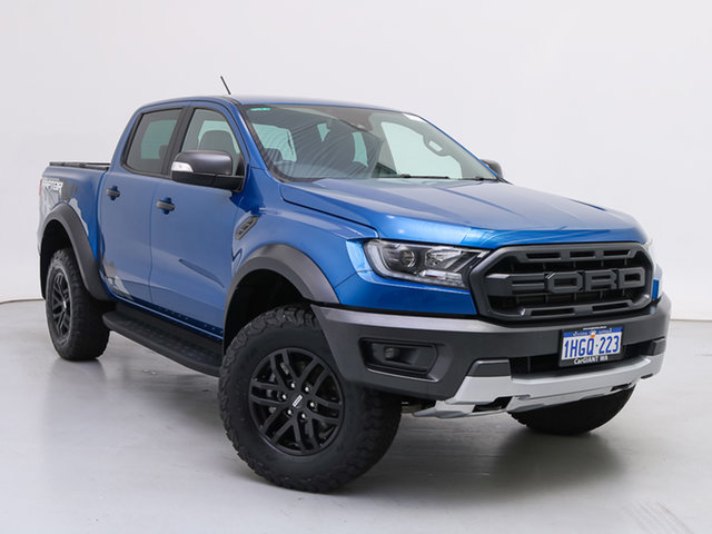 Used Ford Ranger PX MkIII MY19.75 Raptor 2.0 (4x4), 2019 Ford Ranger PX MkIII MY19.75 Raptor 2.0 (4x4) Blue 10 Speed Automatic Double Cab Pick Up